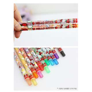 Sanrio Hello Kitty Color Pencil Set  12pcs(Strawberry)