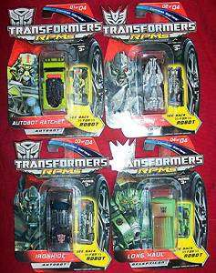 Transformers Combat Series set of 4 cars New on Card