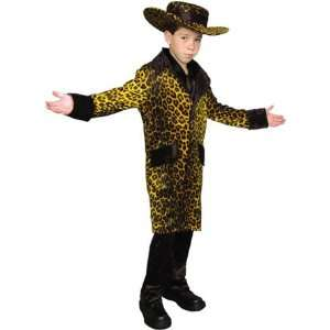 Childs Cheetah Pimp Halloween Costume (Size: Medium 8 10