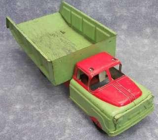 Vintage 1950s Marx  Lumar Contractors Pressed Steel Toy Dump Truck