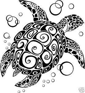 Sea Turtle~Wall Art Vinyl Letter Decal Sticker Tatouage