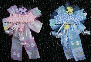 Baby shower corsage Its a girl boy ur choice pink blue