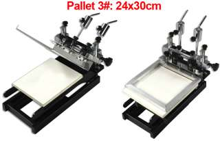 Color Screen Printing Machine 3 Pallets Fine Adjust Home DIY