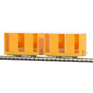 Busch HO RR Mine Personnel Carrier 2 Pack   Yellow oys