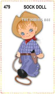 Cowboy OR Cowgirl Rag Dolls patterns   stuffed or cloth