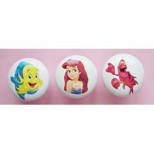 NEW Handcrafted 3pc Princess Ariel Little Mermaid Flounder