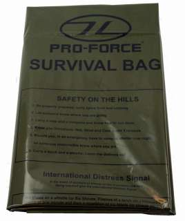 OG MILITARY ARMY EMERGENCY BIVI SLEEPING BAG TENT SAS |