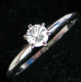 ROUND CUT 14K GOLD REAL GENUINE DIAMOND ENGAGEMENT RING