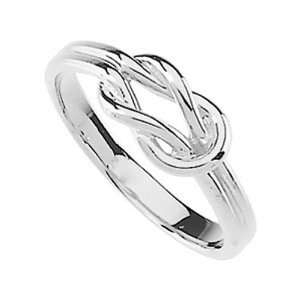14K White Gold Infinity Knot Ring Jewelry