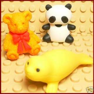 E003 Funny Eraser   Made in Japan   Animals Eraser  NEW