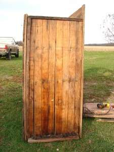 Large Antique Oak 7 Door Ice Box Double Wall Reclaimed Wood 86x61x31