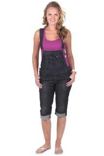 Für sie   Knielange Latzhose   Schwarz Damen jeanslatzhose, Latzhosen