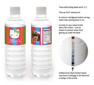 HELLO KITTY Birthday Party WATER BOTTLE LABELS