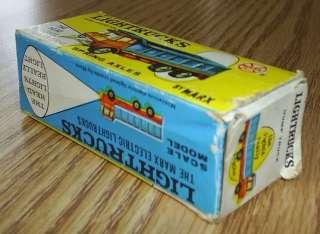 1969 RARE MARX ELECTRIC LIGHTRUCKS DIE CAST DUMP TRUCK ORIGINAL BOX