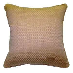 26x26 Pink with Light Gold Dots Brocade Decorative Throw Pillow Cover