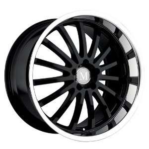 18x9.5 Mandrus Millenium (Gloss Black w/ Mirror Lip) Wheels/Rims 5x112