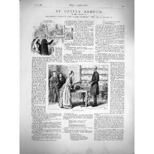 : 1877 Illustration CeliaS Arbour Story Lady Servant: Home & Kitchen