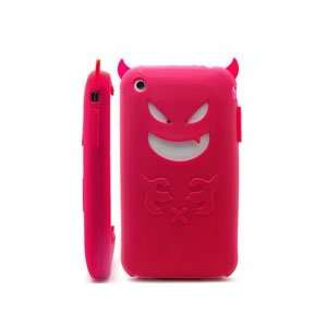 Devil Design HOT PINK Silicone Skin Case Cover for Apple iPhone 3G/3GS