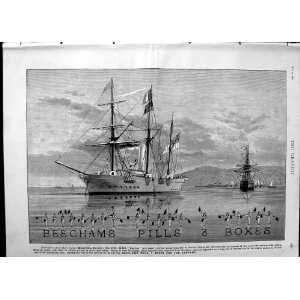 1890 Advertisement Beechams Pills Medicine Ships Flags