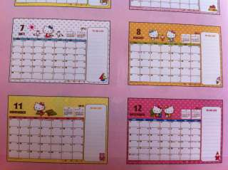 2012 Sanrio Hello Kitty Japan Table Desktop Calendar B Latest
