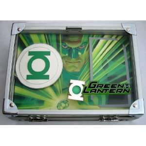 Licensed Green Lantern Silver Plated Ring Rock Box & Belt