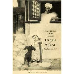1909 Ad Cream Wheat Cereal Killer Jack Chef Rasmus Black