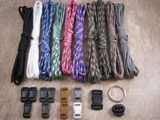 550 Paracord Survival Bracelet Camo Master Kit 100 Feet 10 colors w