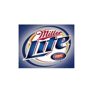 Miller Lite Beer Logo Brushed Metal Tin Sign: Home