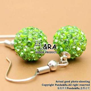 15 Colors 10mm Swarovski Crystal Disco Ball Beads Charming Earring