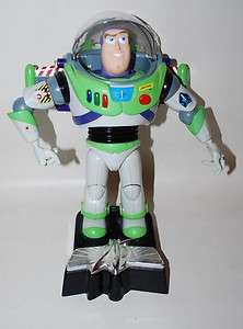 Disney Pixar Talking BUZZ LIGHTYEAR Toy & Room Decor Removable Stand