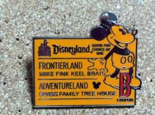 Disney DLR Mickey on B Ticket Frontierland Cast Lanyard pin