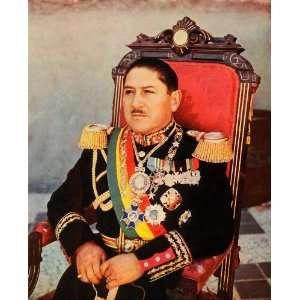 1942 Print General Enrique Penaranda del Castillo Bolivia