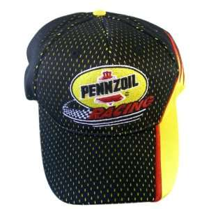 Pennzoil Racing Black Mesh Baseball Cap Pennzoil Hat  Toys