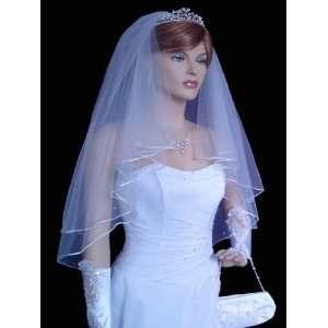 Rhinestone Embroidery Wedding Bridal Veil Accessories Toys & Games