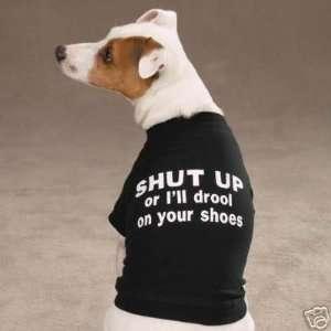 Zack & Zoey DROOL Dog Tee Shirt BLACK LARGE:  Kitchen