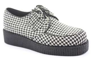 Ladies Funky Flat Wedge Heel Lace Up Platform Goth Punk Creepers Shoes