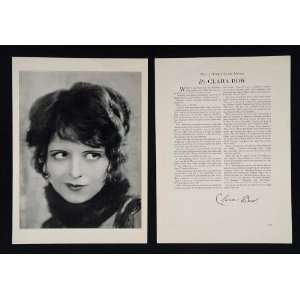 1930 Clara Bow Actor Silent Film Star It Girl Print