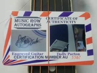 DOLLY PARTON Signed Autograph Guitar COA One of a Kind Laser Engraved