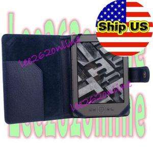 Sapphire PU Leather Case Cover Pouch Jacket For Ebook Reader
