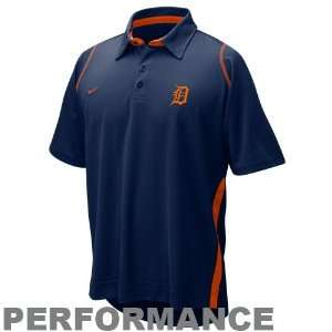 Detroit Tigers Navy Blue Dri FIT Performance Polo