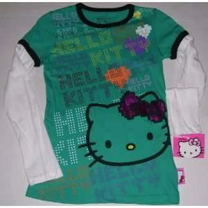 Hello Kitty Long Sleeve T Shirt Youth Size L 10 12