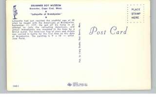 Brewster MA Drummer Boy Museum Postcard