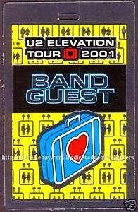U2 backstage pass Tour Laminate BAND GUEST 01 elevation