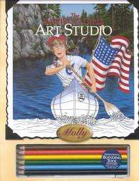 American Girl Mollys Art Studio~RETIRED~NEW