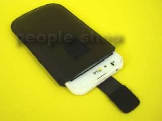 Pull Up Leather pouch case cover (Velcro) for HTC Wildfire S A510E