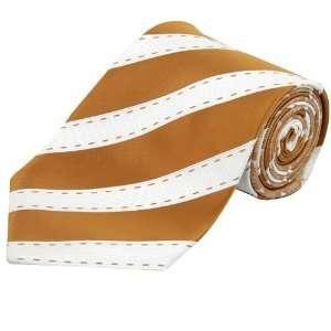 Texas Longhorns Orange/White Double sided Striped Silk Tie