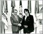 Poster Print Richard Nixon & Elvis Presley Oval Office