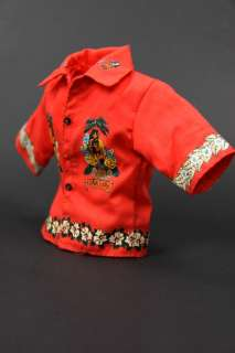 K282 Smart Orange Red Short Shirt for Ken & Friends
