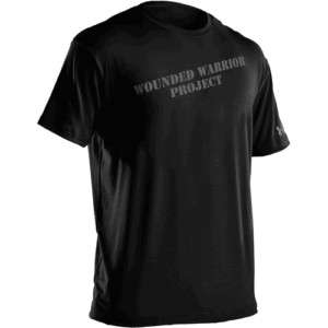HEATGEAR WWP WOUNDED WARRIOR PROJECT MENS NAVY TEE SHIRT S M L XL