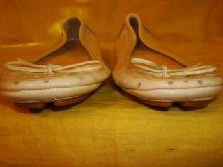 Michael Kors Beige Patent Leather Flat Ballet shoes 5.5 M